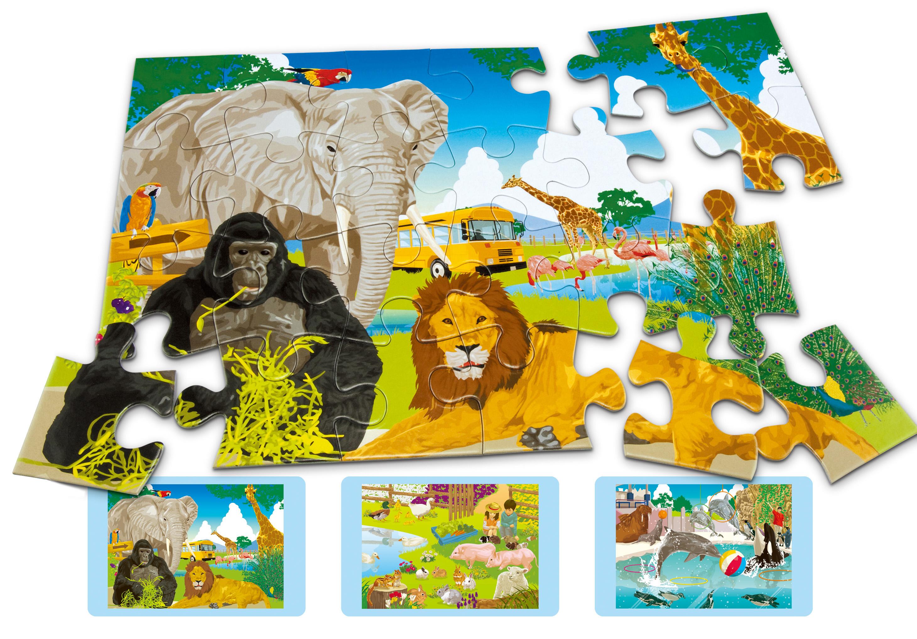 くもんのジグソーパズル STEP3わくわく動物パラダイス | くもん出版